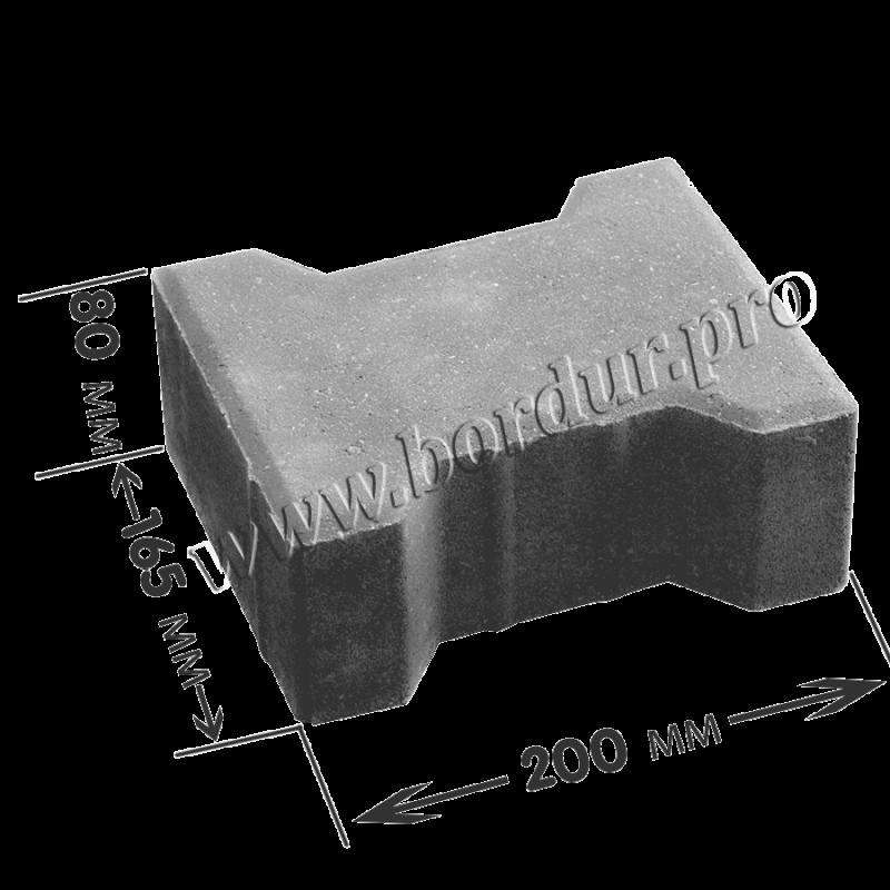 Тротуарная плитка Катушка 200х165x80 мм