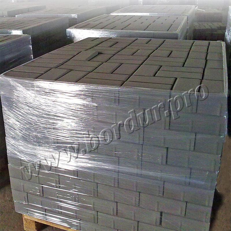 Брусчатка 200x100x60 тротуарная плитка (кирпичик) серая