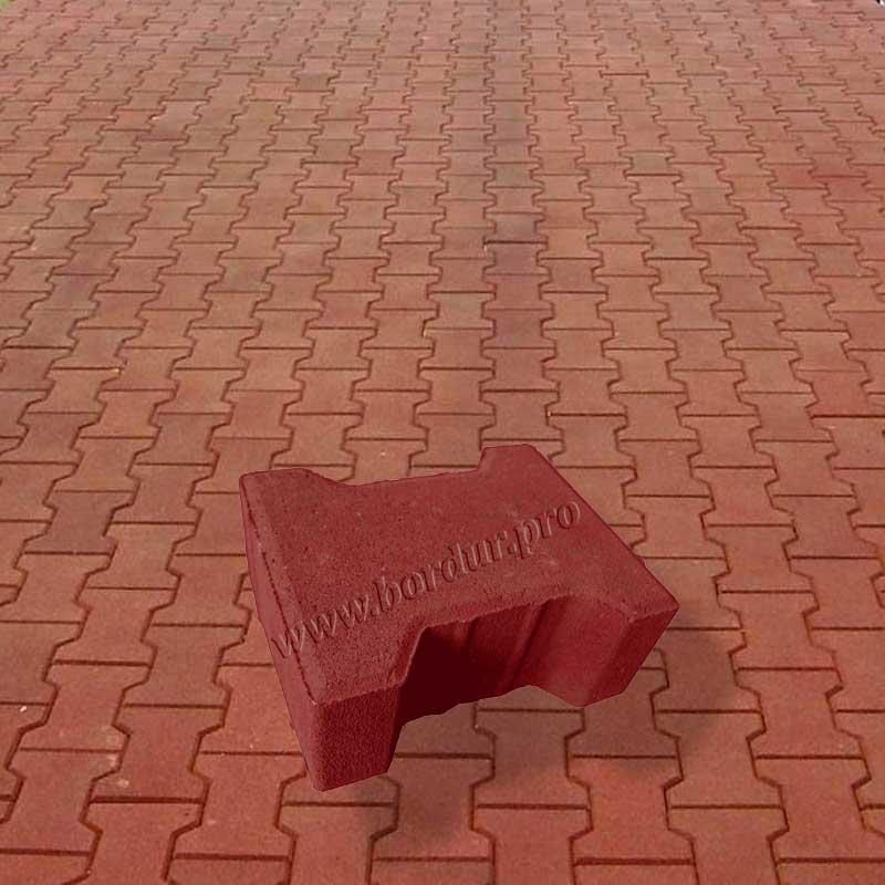 Тротуарная плитка Катушка красная