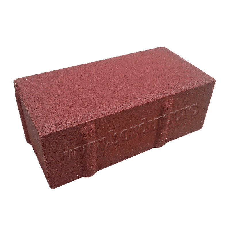Красная тротуарная плитка 200x100x60