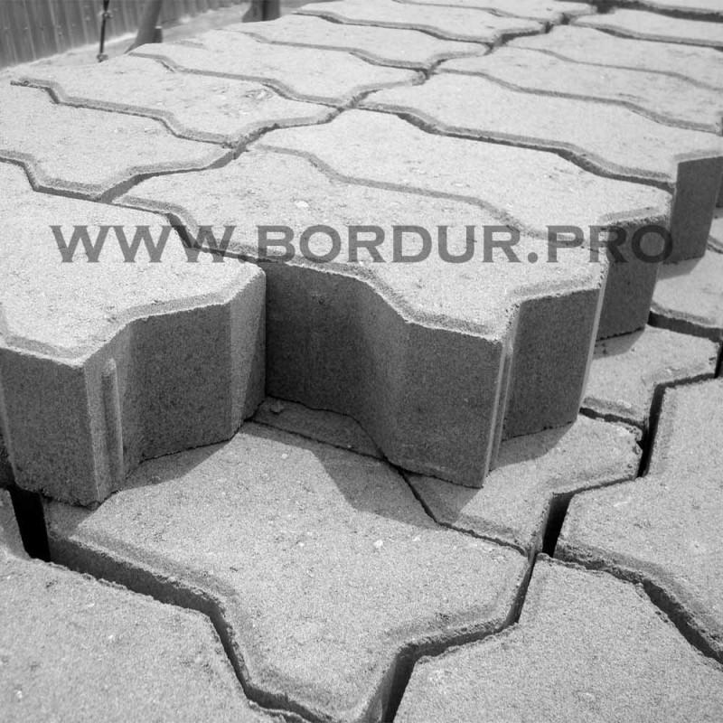 Тротуарная плитка Волна 222х109x60 мм