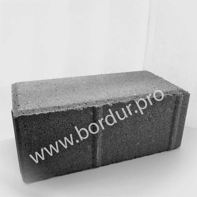 Брусчатка тротуарная 200x100x80 плитка серая