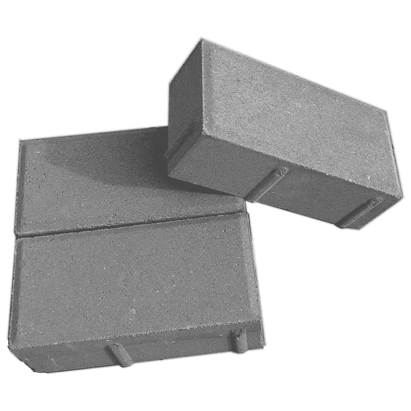 Брусчатка тротуарная 200x100x60 плитка серая