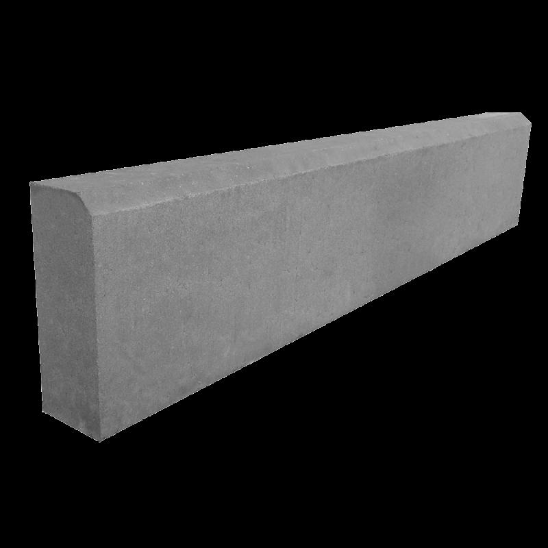 БР 100.20.8 камень бортовой серый