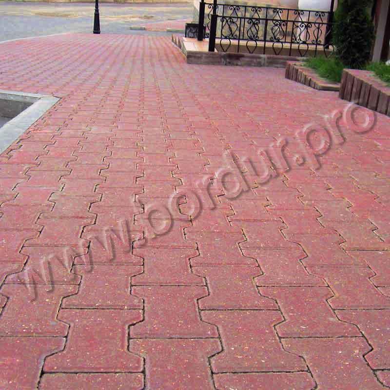 тротуарная плитка Катушка, красного цвета
