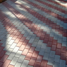 тротуарная плитка красная укладка, применение
