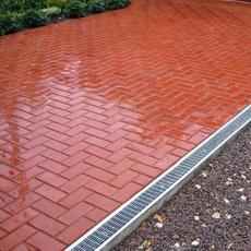 тротуарная плитка красного цвета
